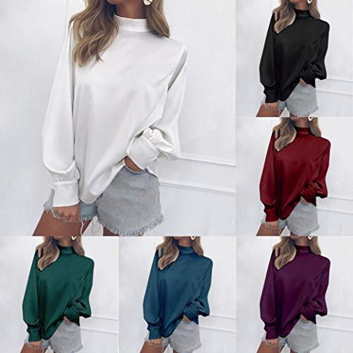Donna Blu Ufficio Elegante Blouse Chiffon Camicia Maglietta Moda Shirt Canotte Tops 4dwAq