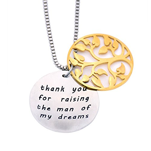 O.RIYA Thank You For Raising The Man Of My Dreams Necklace /Bracelet Gift - Stainless Steel