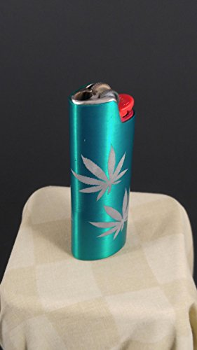 BIC Lighter Cover Metal Blank - 4 Leaf Design (MANY COLORS) by Custom Cuts and Creations LLC