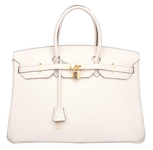 97464936aa5 Ainifeel 40cm Oversized Padlock Business Handbags Office Handbags (40cm(Silver  hardware)