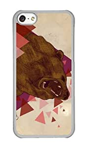 linJUN FENGApple Iphone 5C Case,WENJORS Cool shattered instinct Hard Case Protective Shell Cell Phone Cover For Apple Iphone 5C - PC Transparent