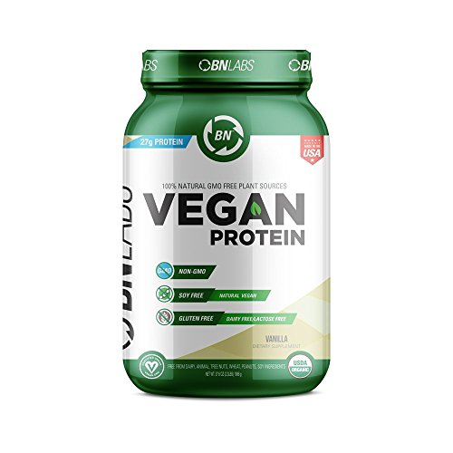 Organic Vegan Protein Powder - 27g Protein, RAW, Certified Organic, NON-GMO, Fully Natural Plant based – Low Carb, NO Sugar - No Dairy, Gluten or Soy – High Protein - ()