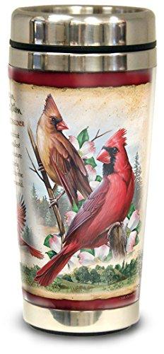 Travel Cardinals Mug - American Expedition Steel Travel Mug - CARDINAL