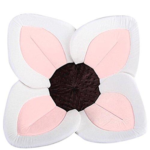 Matoen Baby Shower Blooming Flower,Baby Bath Lotus Flower Baby Bath Plush Tub for Baby Sink Bath (Pink)