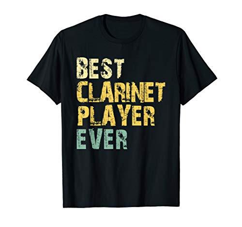 Best Clarinet Player Ever Retro Vintage Clarinetist Gift T-Shirt