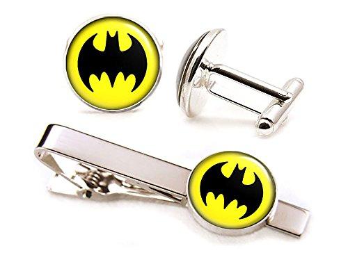 - Batman Tie Clip Tack, Dark Knight Jewelry, Avengers Cufflinks, DC Comics Superhero Cuff Links Link, Groomsmen Wedding