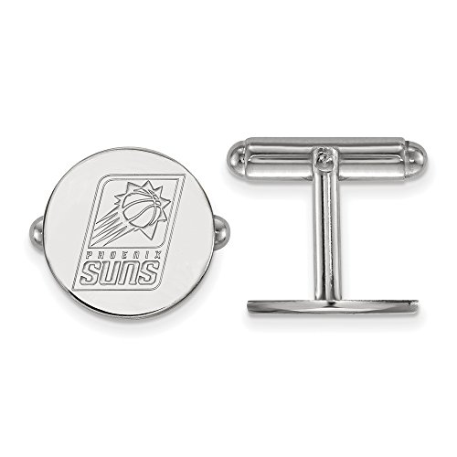 NBA Phoenix Suns Cuff Links in Rhodium Plated Sterling Silver by LogoArt