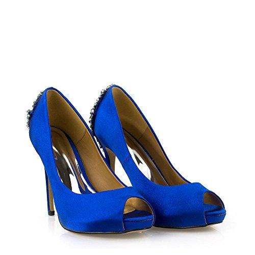 Miss Diva Blau Damen Peep Toe wpCqarBWw