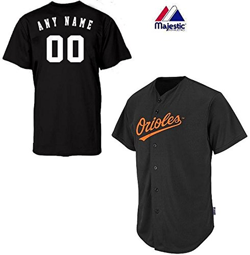 Baltimore Orioles Full-Button CUSTOMIZED (Any Name & Number on Back) Major League Baseball Cool-Base Replica MLB ()