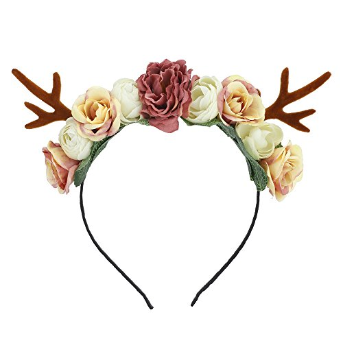 Lovemyangel Girl Deer Antlers Headbands Adult Kid DIY Christmas Hair Band Cosplay Costume (Small -