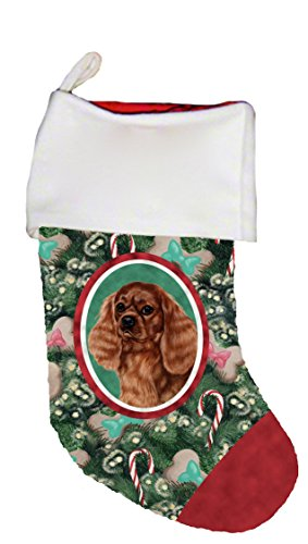 Best of Breed Cavalier King Charles Ruby Dog Breed Christmas Stocking