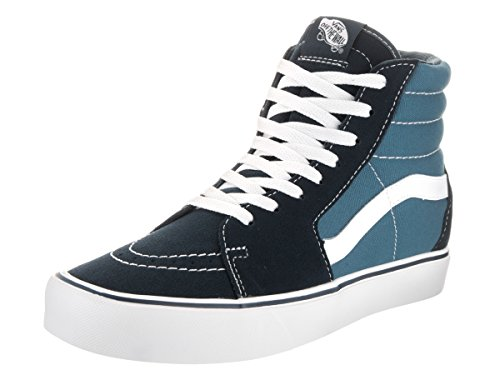 Shoe And Navy High Hi White Ankle Vans Lite Skateboarding Canvas Suede Sk8 w7nvIqz