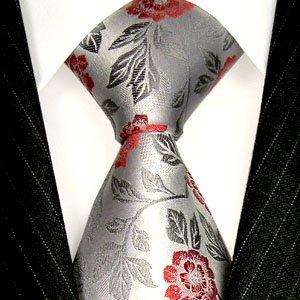 Woven Handmade Pattern Italian LORENZO Jacquard CANA Ties Silk Tie Floral Luxury Red Necktie 7qBqa0I