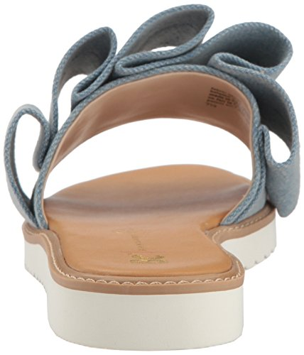 BC Footwear Women's Fun for All Ages Flat Sandal Light Blue Denim J6M1MbrLq