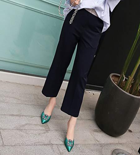 Hauts de Talons Pantoufles Muller Green MSM4 Chaussures décoratifs Neige Empeigne Sandales Chaussures Mode de Femmes à 423 Flocon Tribunal Strass wq0wxgtv