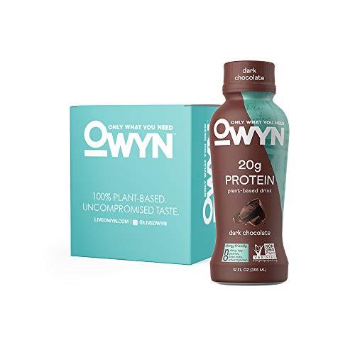 OWYN, Vegan Protein Shake, Dark Chocolate,12 Fl Oz (Pack of 4), 100-Percent Plant-Based, Dairy-Free, Gluten-Free, Soy-Free, Tree Nut-Free, Egg-Free, Allergy-Free, Vegetarian, Kosher
