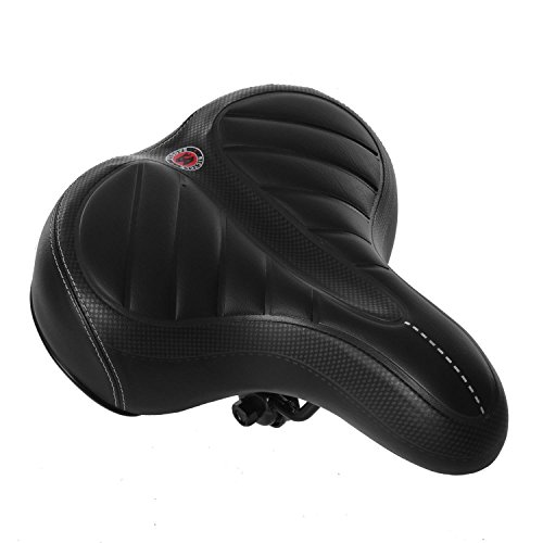 Dtemple Christmas Gifts New Year Gifts Professional Bike Seat Cushion Wide Bum Gel Soft Pad Saddle Fits Cruiser and Stationary Bikes, Indoor Cycling by Dtemple