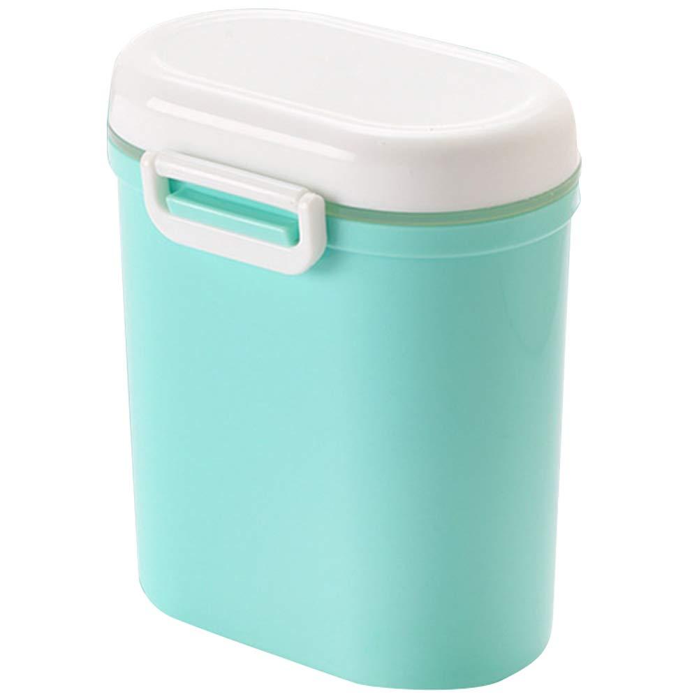 Echaprey Milk Powder Container Portable Formula Dispenser with Scoop, Food Storage Bottle Box Candy Fruit Travel Storage Containers (Green) by Echaprey