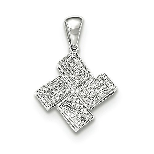 Bennetts Alliance en or blanc 14 carats Diamant Pendentif JewelryWeb carrés