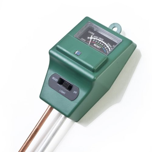 Kingzer 3 IN 1 Soil Garden Green Handle Probe Soil PH Moisture And Light Tester Meter