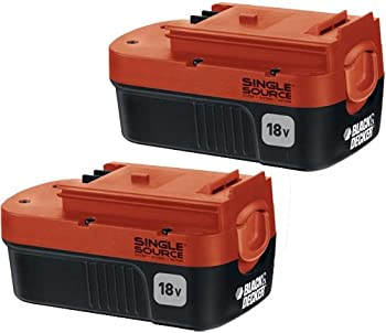 2-Pk. Black & Decker 18V 1.5Ah NiCd Battery