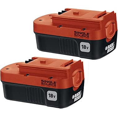 Black & Decker HPB18-OPE2 18-volt NiCd Battery for Outdoor Power Tools, 2-Pack