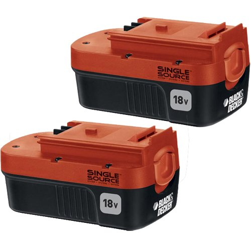 Black & Decker HPB18-OPE2 18V 1.5Ah NiCd Battery for Outdoor Power Tools, 2-Pack