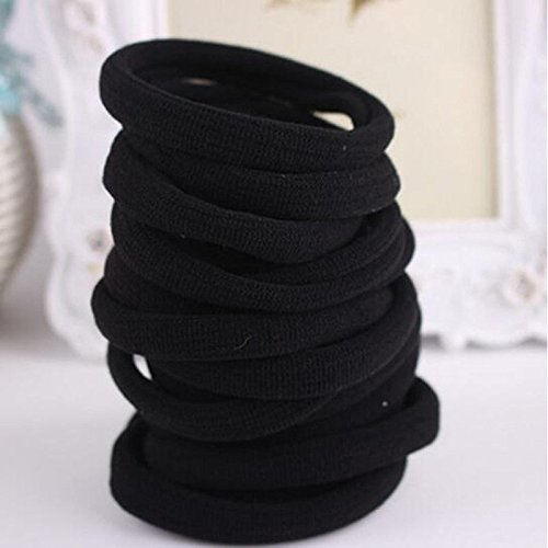 Phonphisai shop New Black 10pcs Girls Elastic Hair Ties Band Rope Ponytail Bracelets scrunchieecklace N691