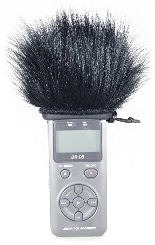 Master Sound Tascam DR-05, Windscreen Muff for recorder Tascam DR-05 to protect the record from the wind, easy to put on hand recorders, made in the EU from certified, materials by Master Sound