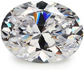 Ratnagarbha Cubic Zirconia Cut oval Faceted Loose gem Stone, White Zircon, cz Stone, American Diamond, Jewelry Making, Wholesale Price.
