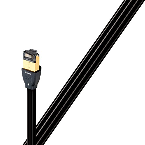 AudioQuest 0.75m RJ/E Pearl Cat 7Black Networking Cable-Networking Cables (0.75m, Cat 7, RJ45, RJ45, Black) ()