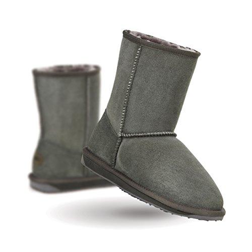 EMU Stinger Lo Flatform Womens Sheepskin Boot Sheepskin Fashion (8 B(M) US, - Boot Chestnut Lo