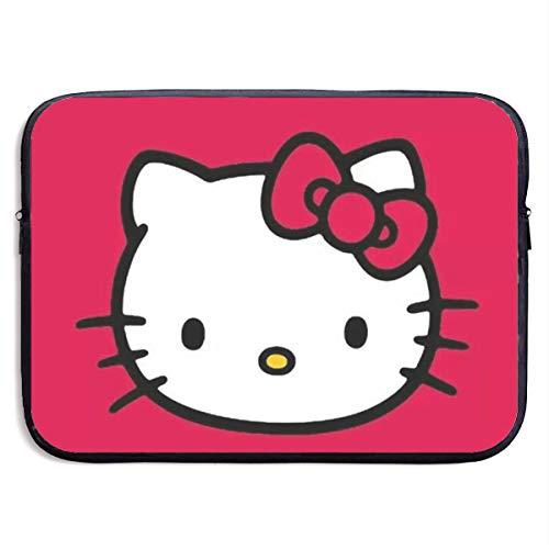 Laptop Sleeve Bag- Stylish Red Hello Kitty Print Neoprene Notebook Carrying Case Handbag for 13