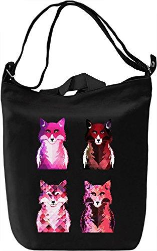 Graphic Foxes Borsa Giornaliera Canvas Canvas Day Bag| 100% Premium Cotton Canvas| DTG Printing|