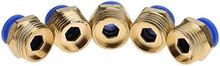 Tubo de aire de 10 mm Accesorios neum/áticos Neum/áticos Rosca recta Empuje recto Conector para conexi/ón r/ápida PC10-4 5pcs