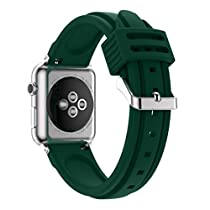 For Apple Watch Series 2 / 1 42mm Bands, Gotd Replacment Accessories New Fashion Sports Silicone Bracelet Strap Band For Apple Watch Series 2/1 42mm (Army Green)
