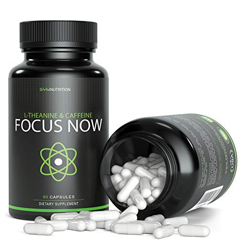 (Caffeine 100mg, L-Theanine 200mg - 90 Count (V-Capsules); Taken for Better Focus, Energy, Mood & Wakefulness | Nootropic Stack | Non-GMO & Gluten Free )