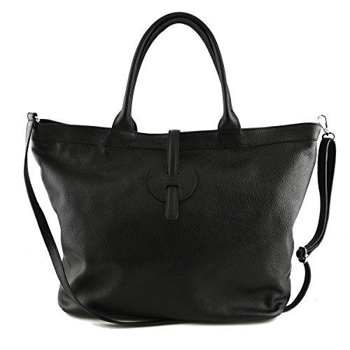 Echtes Leder Tasche Für Damen Farbe Schwarz - Italienische Lederwaren - Damentasche k8N91k94