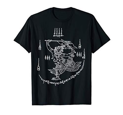 Vintage t shirt graphic tees Tattoo Thai talisman hanuman (Thai T Shirt)