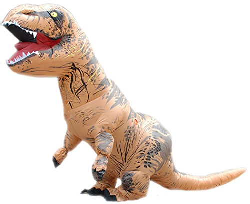 [LB Halloween Dinosaur T.Rex Inflatable Costume Halloween Fancy Dress For Kids and Adults Men's Jurassic World Cosplay Apparel Clothing (Kids] (Inflatable Chub Suit Costume)