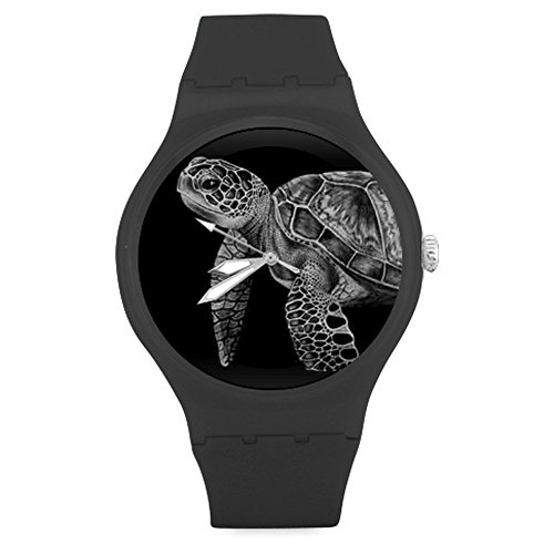 new-arrival-black-white-sea-turtle-art-unisex-round-rubber-sport-quartz-watchwatch-face-diameter-158
