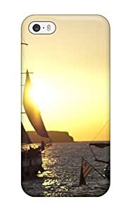 Slim Fit Tpu Protector Shock Absorbent Bumper Sunset Case For Iphone 5/5s