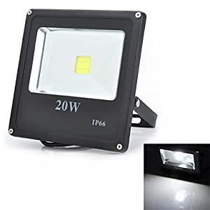 Marsing 20W Square Outdoor Waterproof 1800lm 6500K LED White Light Flood Projection Lamp (85-265V)