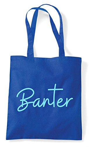 Blue Quote Shopper Bag Hashtag Statement Royal Tote Banter 0E6wC7qU