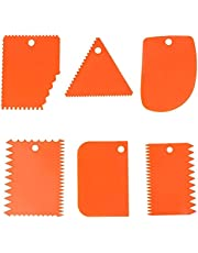 6Pcs Plastic Clay Scraper Handle Carved Clay Sculpture DIY Tool Pottery Clay Scraper Ceramic Serrated Tools Deft and Professional