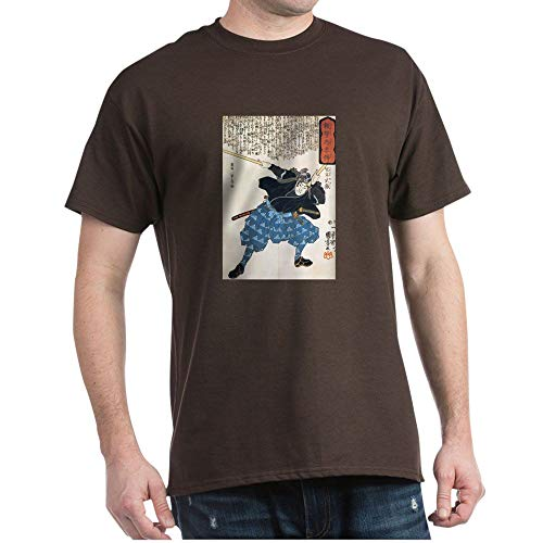 CafePress Miyamoto Musashi Two Swords Black T Shirt 100% Cotton T-Shirt (Musashi Best Miyamoto Sword)