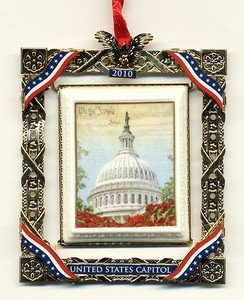 US Capitol Historical Society - 2010 Marble Framed Dome Ornament