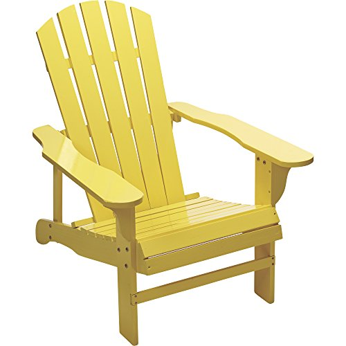 Country Porch Arm Chair - Leigh Country Classic Yellow Painted Wood Adirondack Chair