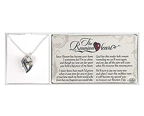 Dicksons The Reunion Heart Bereavement Silver Plated 18 inch Locket Necklace ()