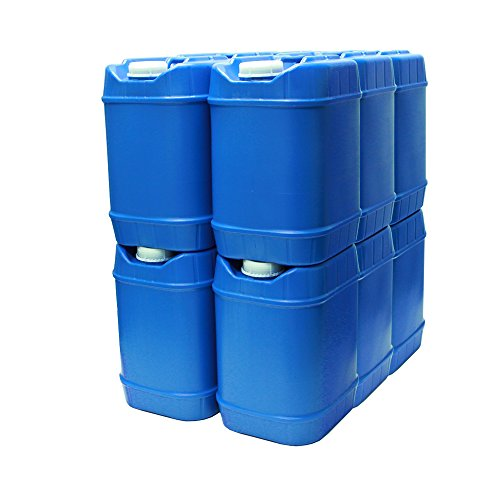 5-Gallon Stackable Water Containers (60 Total gallons), Emergency Water Storage Containers, BPA Free, high Density polyetholene
